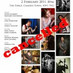 The Concert at The Forge is CANCELLED due to illness